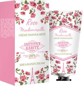INSTITUT KARITE インスティテュート カリテ Shea Hand Cream (シア ハンドクリーム) Rose Mademoiselle ローズマドモアゼル (クラシックローズ )75ml